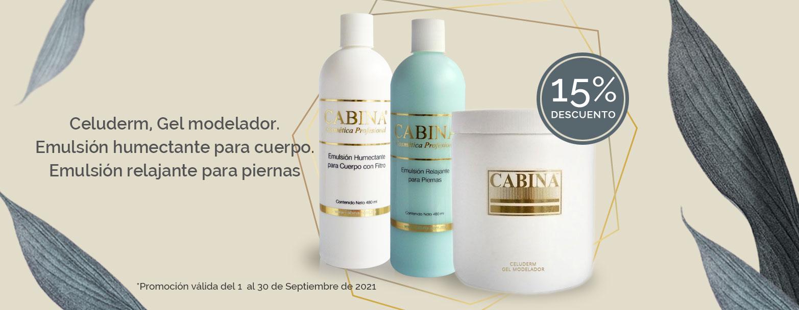 productos cosméticos profesionales cabina - promocion septiembre 2021